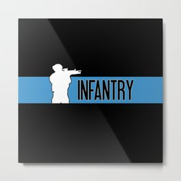 Infantry Blue Metal Print
