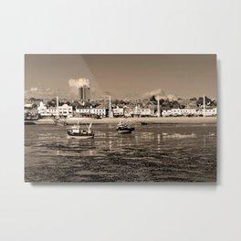 Boats Southend on Sea Beach Essex England Metal Print