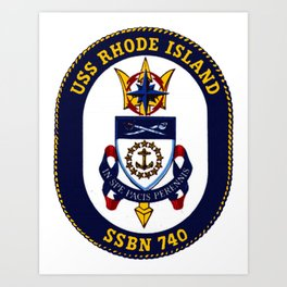 USS RHODE ISLAND (SSBN-740) PATCH Art Print