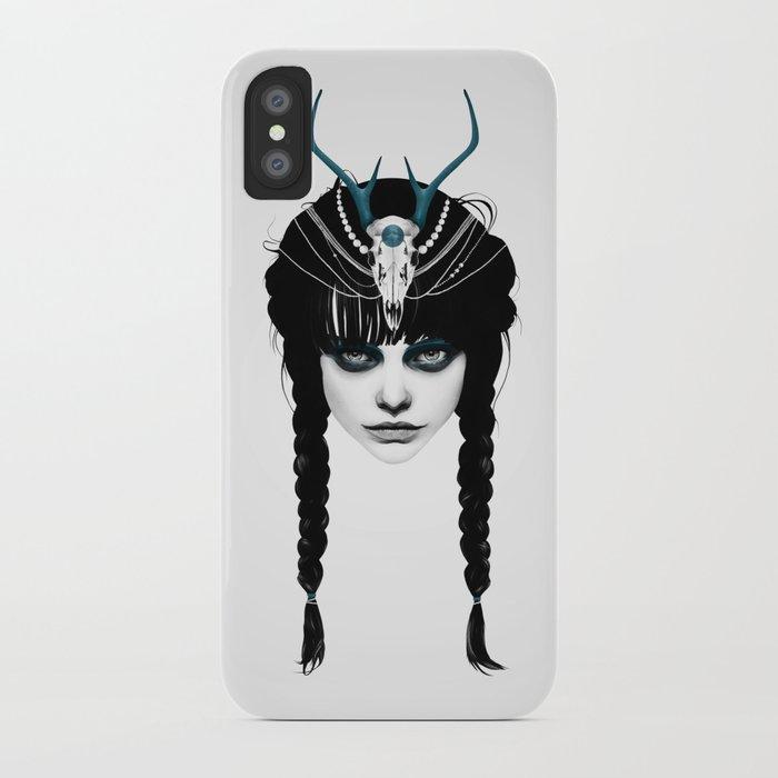 Wakeful Warrior - In Blue iPhone Case