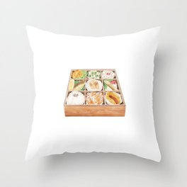 Japanese Bento | 日式便当 Throw Pillow