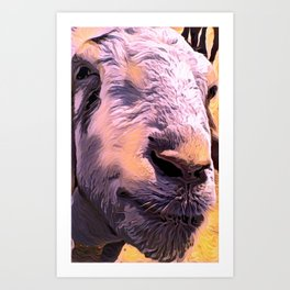 """Goat Face"" Art Print"