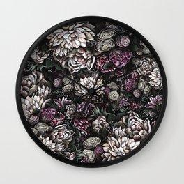 florals galore Wall Clock