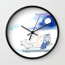 To the moon and back - Bear On Hike Wall Clock