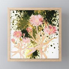 flowers and splash Framed Mini Art Print