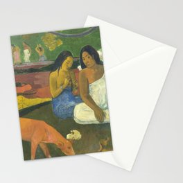 Paul Gauguin - Arearea / Joyousness I (1892) Stationery Cards