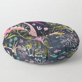 Pink Floral Floor Pillow