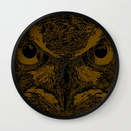 Owl Loves Dark! Wall Clock