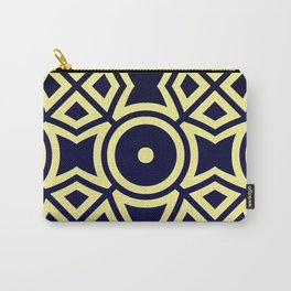 Composition in Texas Yellow and Stratos Blue Carry-All Pouch