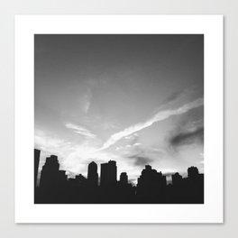 BLACK CITY SKY Canvas Print