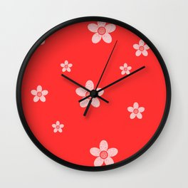 colored subtle pattern Wall Clock