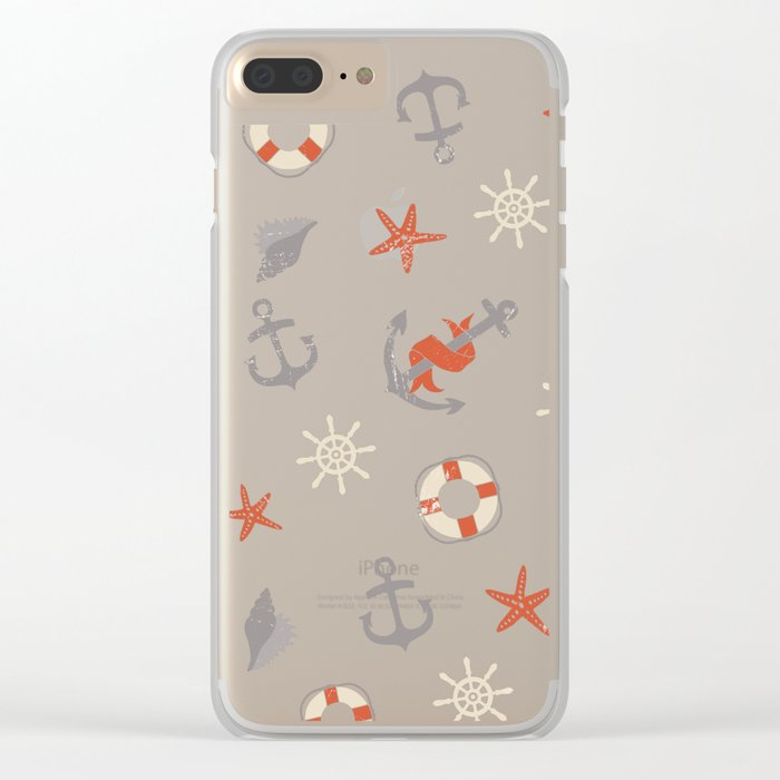 Nautical Clear iPhone Case