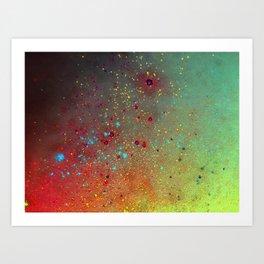 A splash of space Art Print