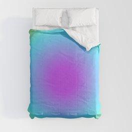 Round Gradien Neon Comforters