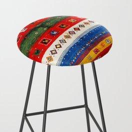 N35 - Bohemain Colored Moroccan Traditional Andalusian Artwork. Bar Stool