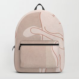 Abstract Woman Figure Backpack