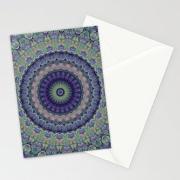 Ornamented mandala with flower motiff Stationery Cards