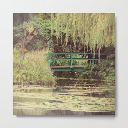"""Monet's """"Water Lily Pond"""" - Giverny, France Metal Print"""
