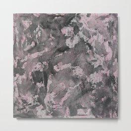Black Ink on Pink Highlighter Metal Print