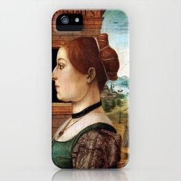 Maestro delle Storie del Pane Portrait of a Woman iPhone Case