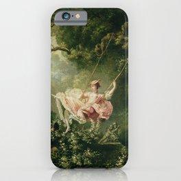Jean-Honore Fragonard - The swing iPhone Case