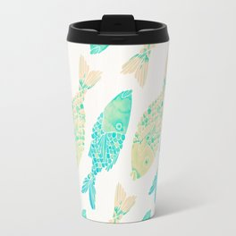 Indonesian Fish Duo – Turquoise & Cream Palette Travel Mug