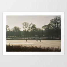 Skating on Ice Art Print