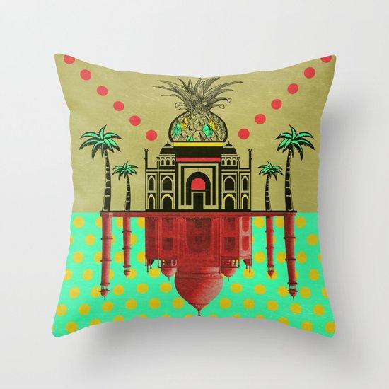 pineapple architecture 2 Throw Pillow