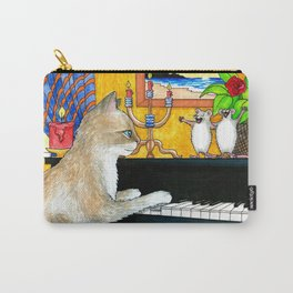 Cat Playing piano Carry-All Pouch