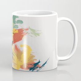 Intuitive Conversations, Abstract Mid Century Colors Coffee Mug