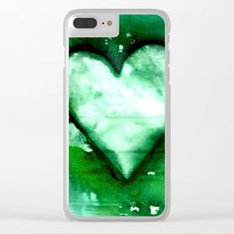 Heart Dreams 3D by Kathy Morton Stanion Clear iPhone Case