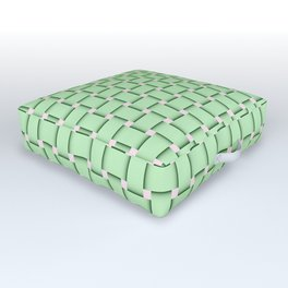 green,color pattern of many small four corners Outdoor Floor Cushion
