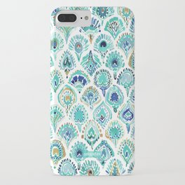 PEACOCK MERMAID Nautical Scales and Feathers iPhone Case
