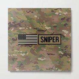 Military: Sniper (Camo) Metal Print