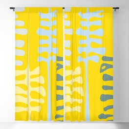 Abstract jungle - yellow Blackout Curtain