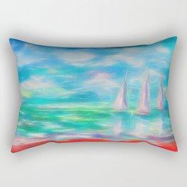 Emerald Morning Rectangular Pillow