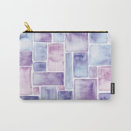Watercolour Mosaic Pattern | Original Colors Carry-All Pouch