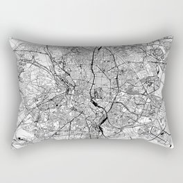 Madrid White Map Rectangular Pillow