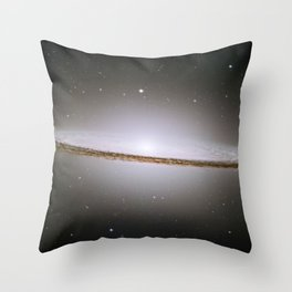 Hubble Space Telescope - Hubble mosaic of the majestic Sombrero Galaxy Throw Pillow