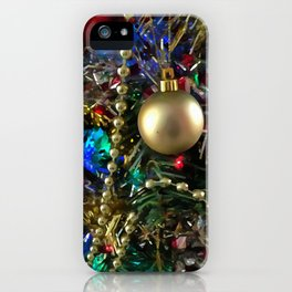Christmas Tree Garlands And Ornaments iPhone Case