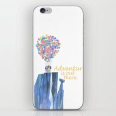 adventure is out there.. cursive iPhone & iPod Skin