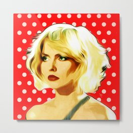 Blondie - Debbie Harry - Pop Art Metal Print