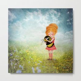 Bee Whisperer - Save the Bees Metal Print