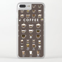 Coffee Chart Clear iPhone Case