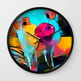 Mini Pig Wall Clock