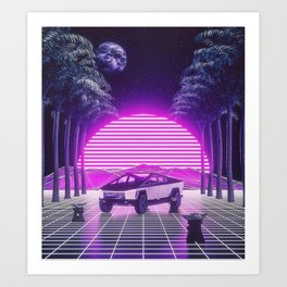 VAPOR WAVES 19 Art Print
