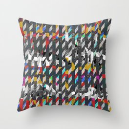 Colorful noise Throw Pillow