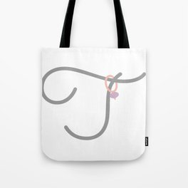 T Initial with Stitch Marker Tote Bag