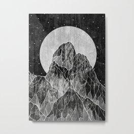 The Lone peaks of the moon Metal Print