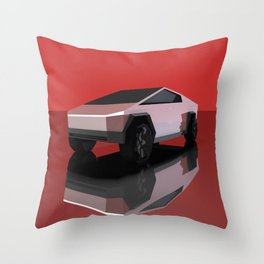 Cybertruck Low Poly Throw Pillow